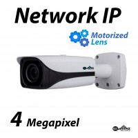 4 Megapixel Bullet IR IP Camera Motorized 2.8-12mm
