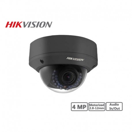 Hikvision 4MP Motorized 2.8-12mm Network Dome Camera (Black)