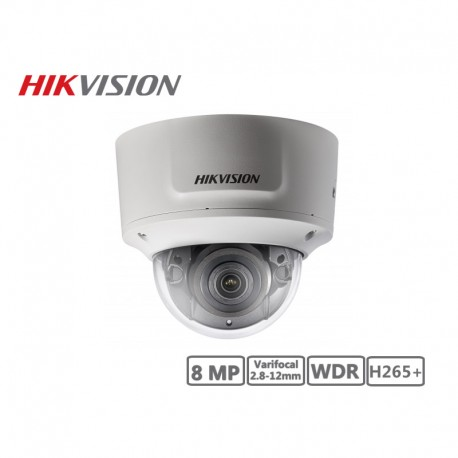 Hikvision 8MP Varifocal 2.8-12mm Network Dome Camera H265+