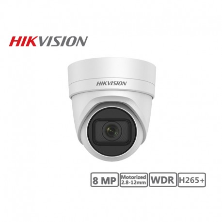 Hikvision 8MP Motorized 2.8-12mm Network Turret Camera H265+