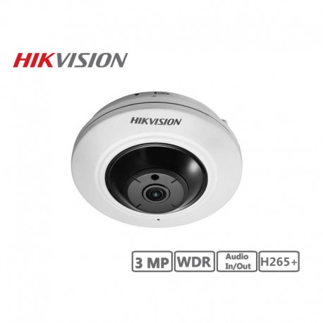 Hikvision 3MP Fisheye Camera H265+
