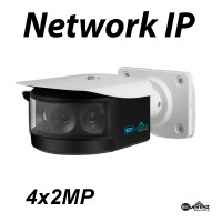 4x2MP Multi-Lens Panoramic Network IR Bullet Camera