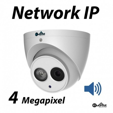 4 Megapixel Turret Dome IR IP Camera 3.6mm Audio