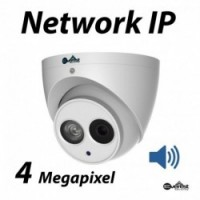 4 Megapixel Turret Dome IR IP Camera 2.8mm Audio
