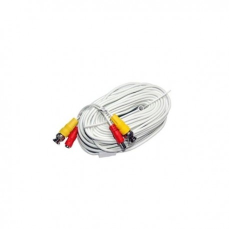 Siamese cable with audio 100ft (white)