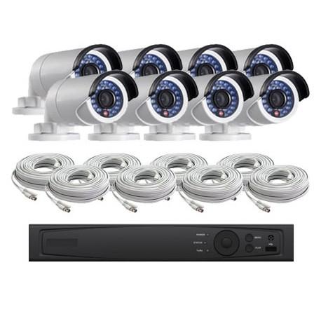 8 Channel HD-TVI 1080p Bullet KIT