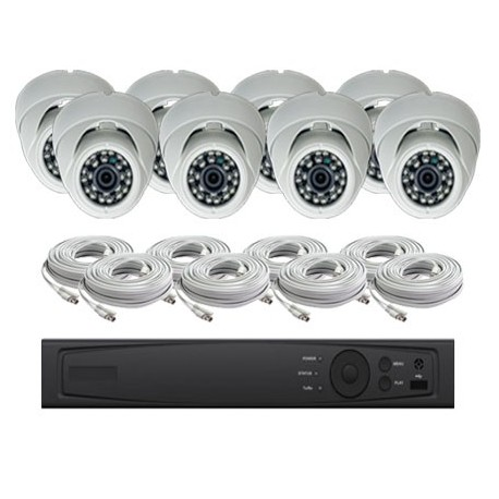 4 Channel HD-TVI 1080p Dome KIT