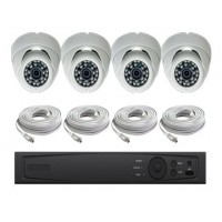 4 Channel HD-TVI 1080p Dome KIT