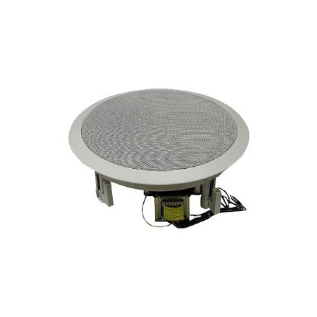 8″ Coaxial Speaker, 70/25 Volt Transformer (WHITE)