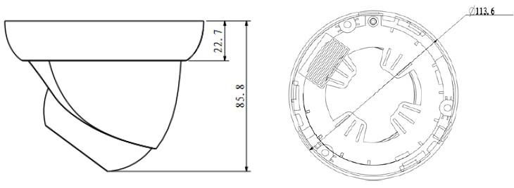 IPC-HDW2100 Dimensions